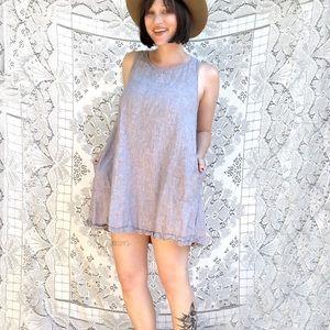 Cynthia Rowley | blue linen shirt dress